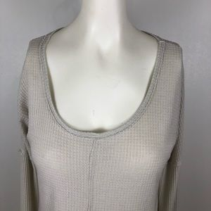 Lucky Brand Tops - Lucky Brand Thermal Waffle Knit Button Cuff Blouse